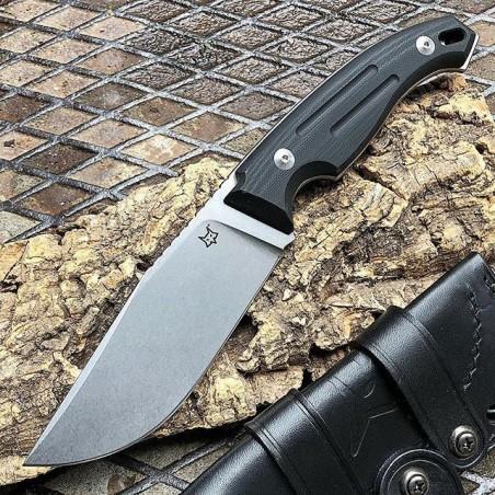 Fox Production Poignard FOX OCTOPUS VULGARIS G10 Noir FX.510 Couteaux de Chasse