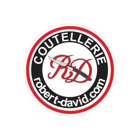 Robert David - Thiers Couteau pliant Laguiole Le Sélect forgé R. David 9cm Cuir DS0112CN Couteaux de poche