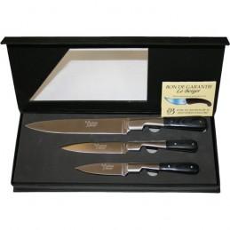 Le Berger Coffret 3 Couteaux de Cuisine Le Berger VENDETTA 5603 Couteaux de cuisine