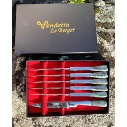 Le Berger Coffret 6 Couteaux de Table Le Berger VENDETTA V/G 9010 Art de Table