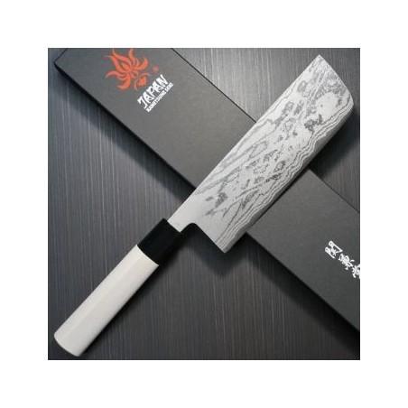 Kanetsune Couteau Usuba KaneTsune Damas 16,5cm KC521 Couteaux japonais