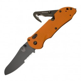 Benchmade Couteau Benchmade Triage BN915SBKORG - Brise vitre + coupe ceinture BN915SBKORG Couteau Benchmade