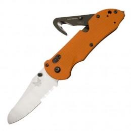 Couteau Benchmade Triage BN915SORG - Brise vitre + coupe ceinture