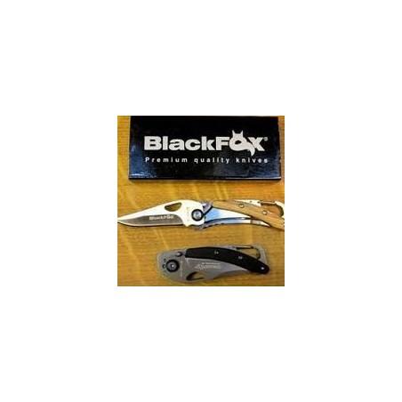 FOX Knives Couteau Black FOX Zytel Noir A Mousqueton 21680 Couteaux de Marins