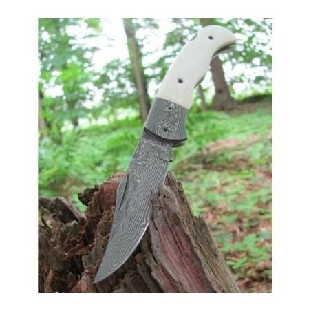 Boker Magnum Couteau pliant damas Böker Magnum Bone - 7,8 cm 01MB180DAM Couteaux de poche