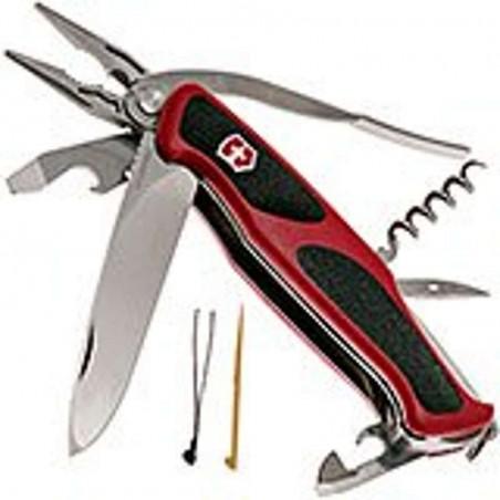 Victorinox Couteau Suisse Victorinox Rangergrip 74 Rouge - 15 Fonctions 0.9723.C Couteaux Suisses Victorinox