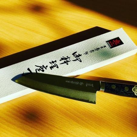 Kanetsune - Couteaux Japonais Couteau Japonais KaneTsune Kengata Lame 18cm KC141 Couteaux Japonais